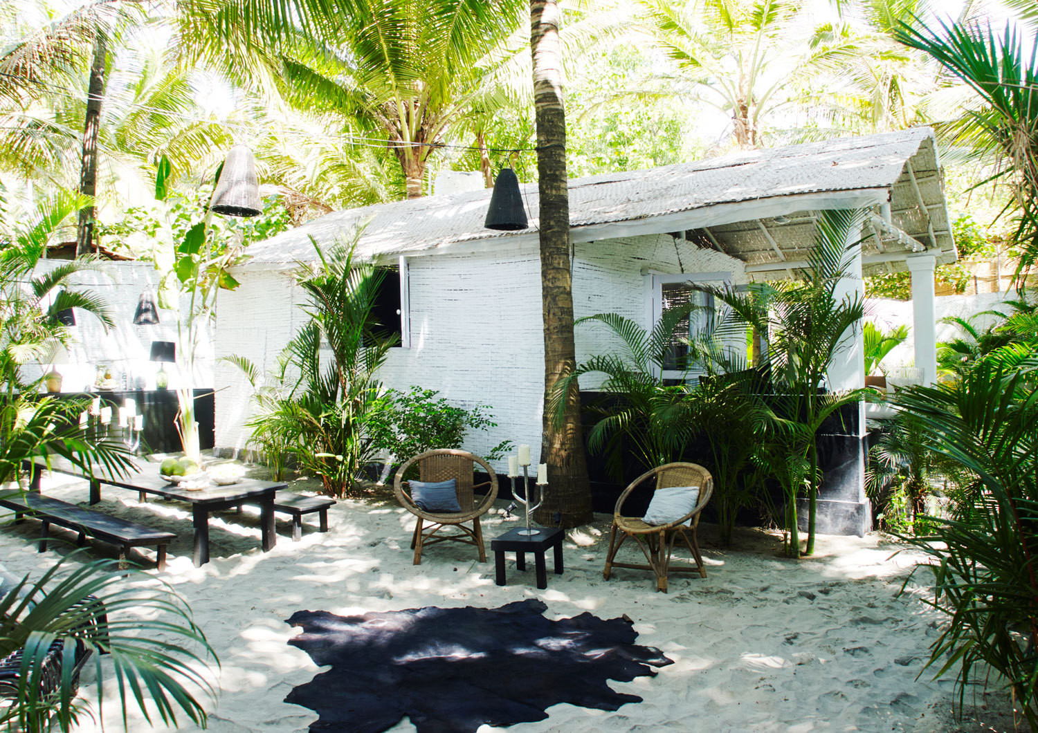 French fashion designer Laurence Doligé's bungalow in Goa, India.