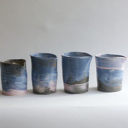 Rothko Hand Pitches by Frances Palmer Pottery