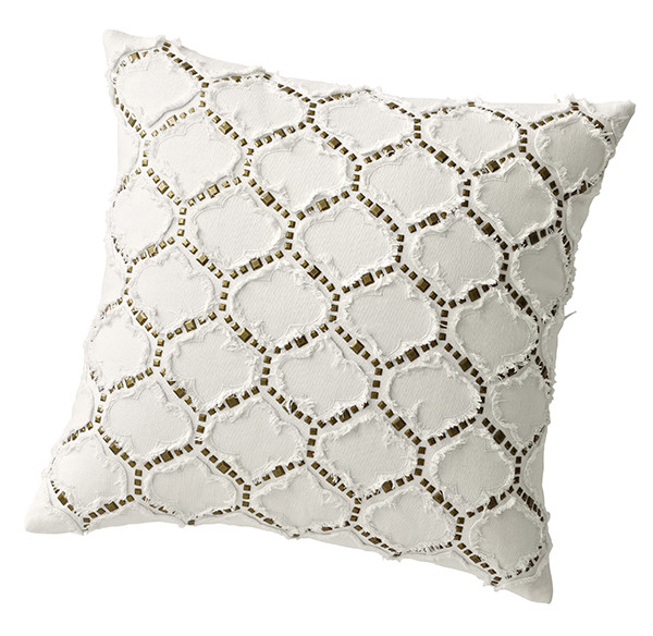 Metallic Studded Ogee Pillow