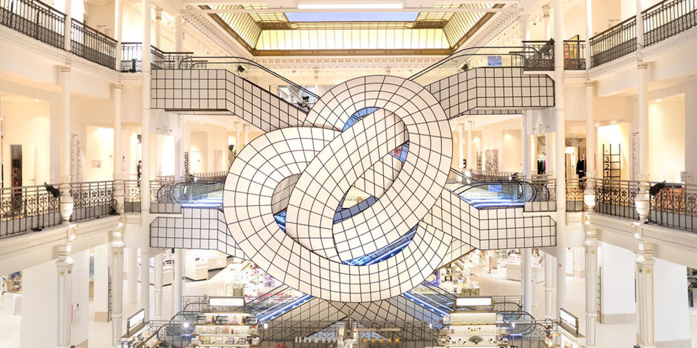 12 art installations to see and share now scout out lonny - Le bon marche luminaires ...