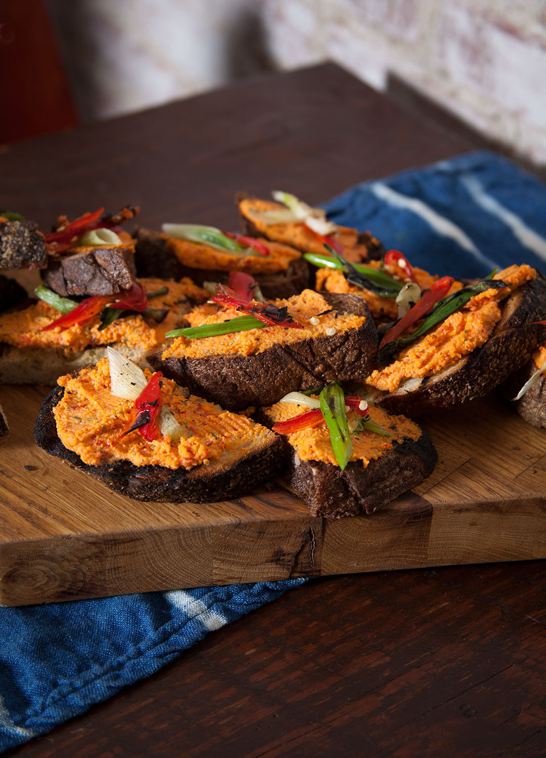 """""""These are really packed with flavor,"""" says Lippert of her pimento cheese crostini. """"Even if you don&squot;t know what it is, you&squot;re hooked once you taste them."""""""