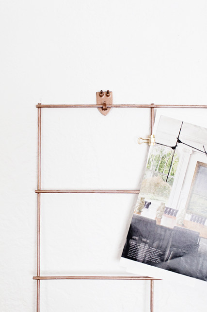 Diy of the week copper wall organizer do it yourself projects lonny diy of the week copper wall organizer solutioingenieria Image collections