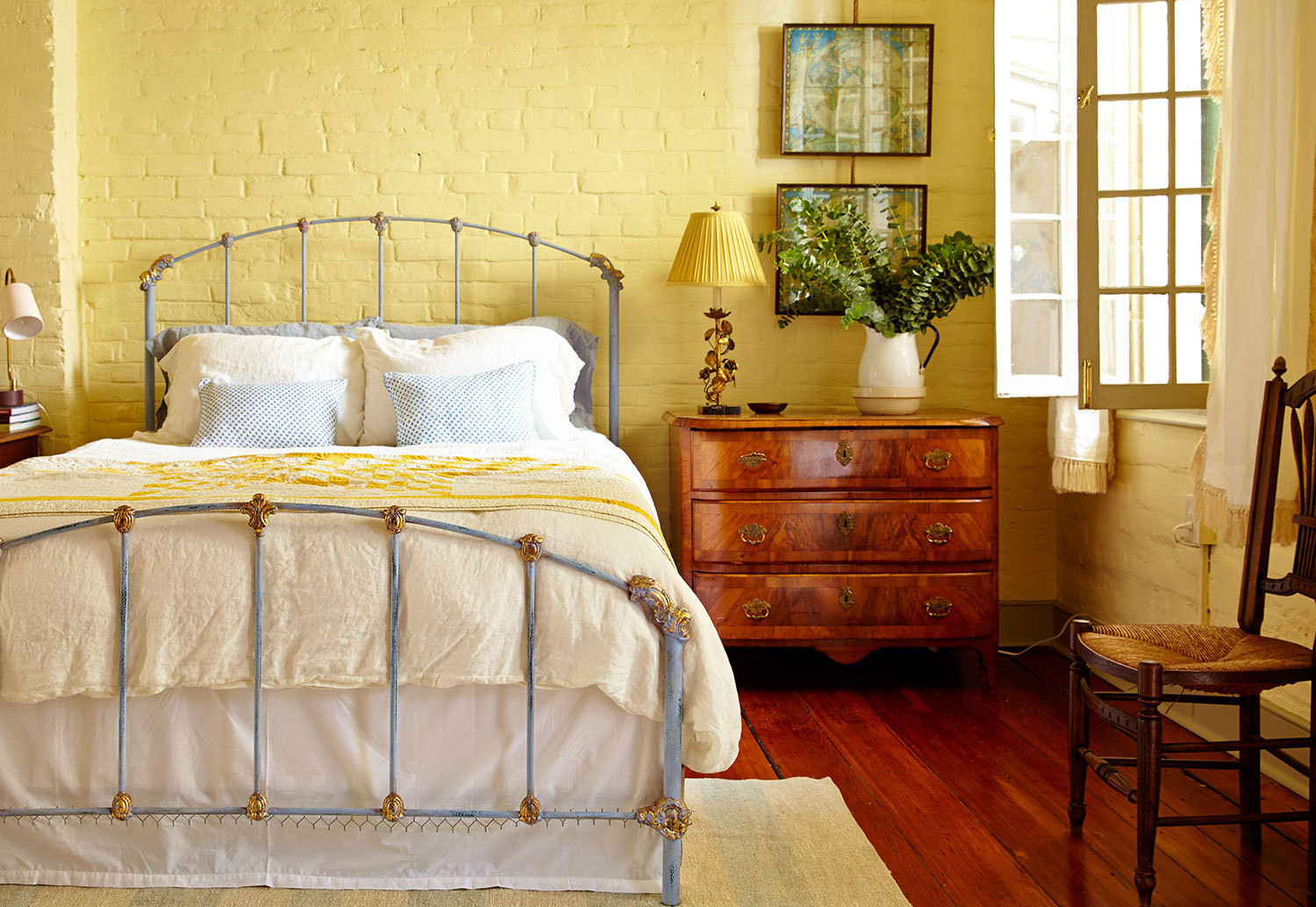 The master bedroom of a historic New Orleans home, reimagined by Logan Killen Interiors.