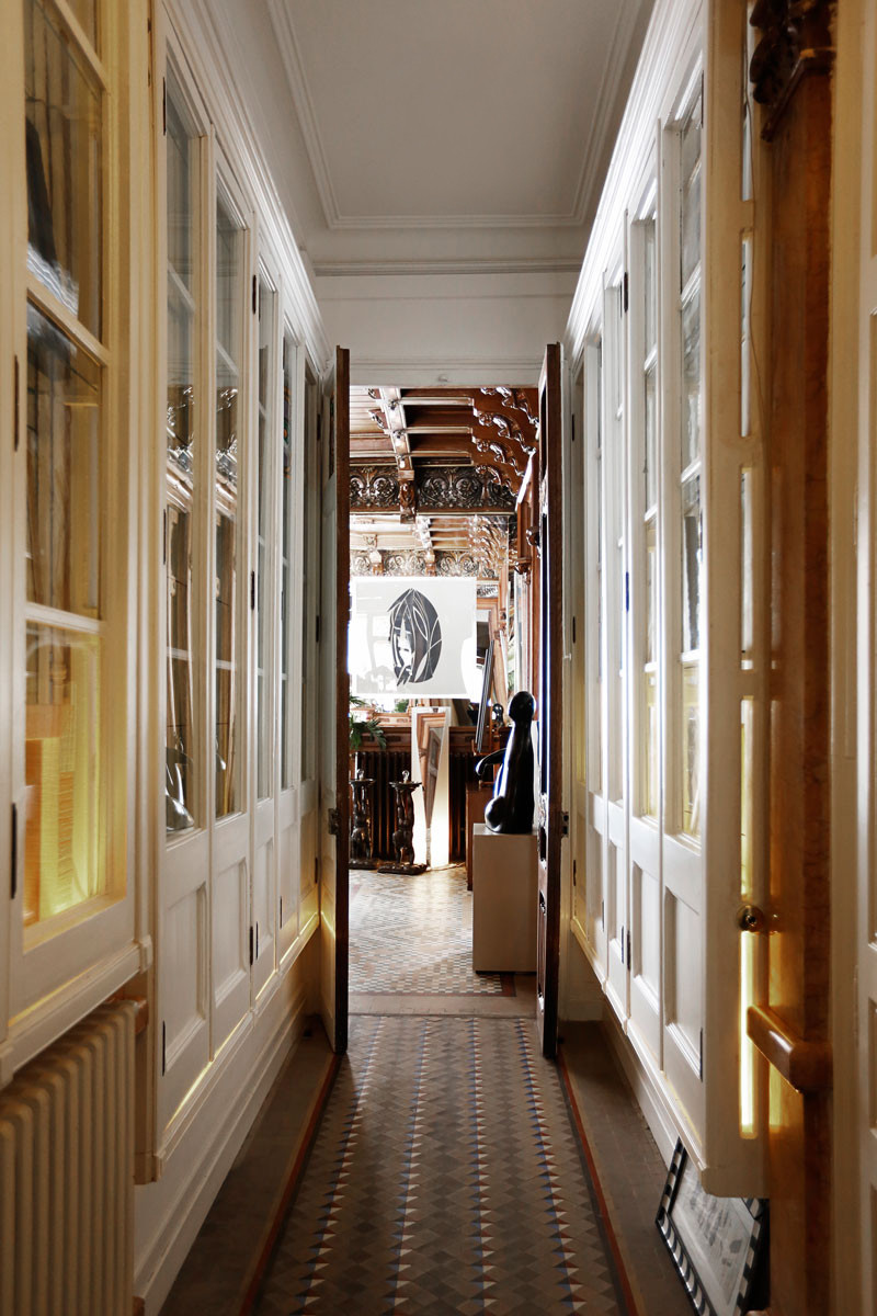 The hallway down a house of visual delights.