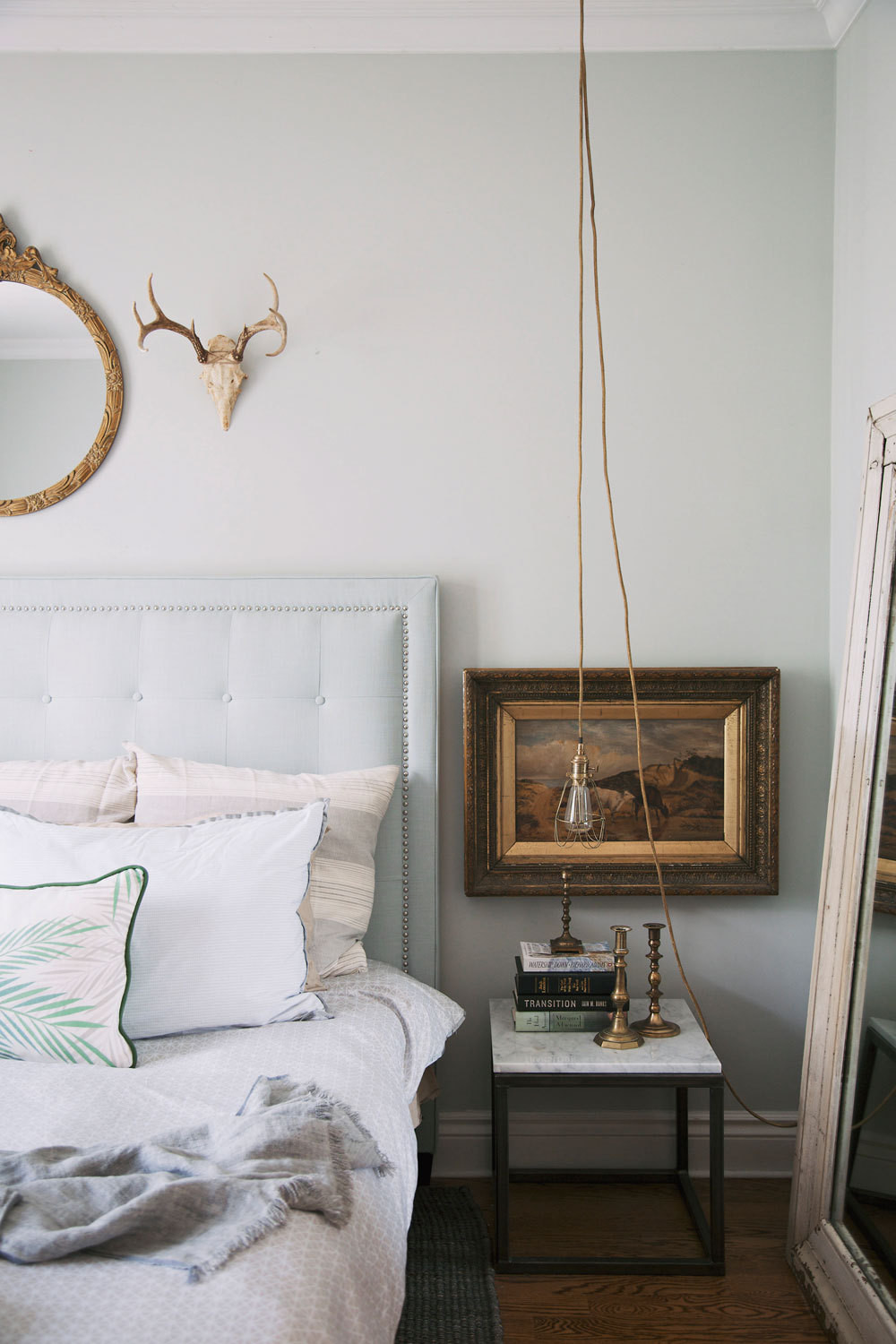 Boutique owner Christine Flynn's soulful Toronto bedroom.
