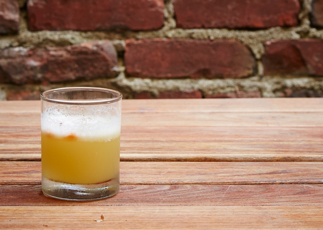 Our top drink of the evening: the superlative Sunset Sour.
