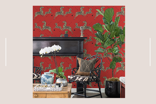 Scalamandre's Iconic Wallpaper Now Comes In A Renter-Friendly Adhesive Design