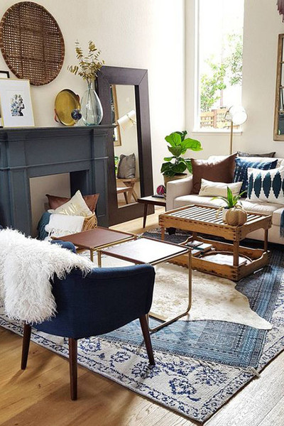 Layer Rugs How To Diy Your Apartment Into A Boho Paradise On A