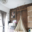 Hanging Bassinet Frees Up Precious Floor Space