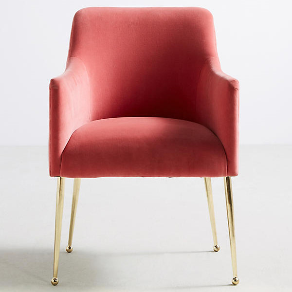 Anthropologie Velvet Elowin Chair