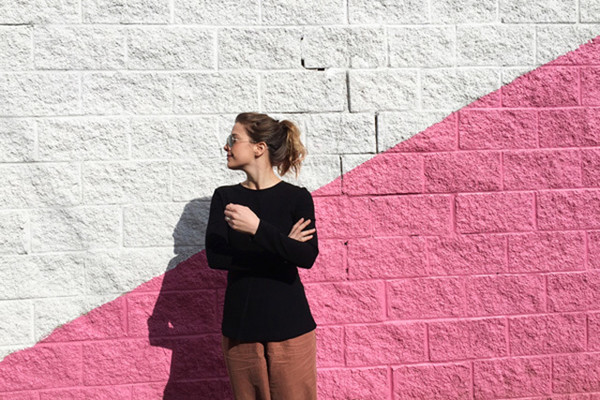 Pink & White Wall