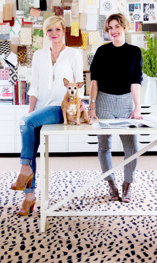 Designers Jensen Killen, at left, and Katie Logan LeBlanc.<em> </em>