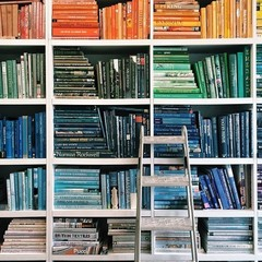 This Martha Stewart Editor's Color-Coordinated Bookshelf Might be the Best Thing Ever