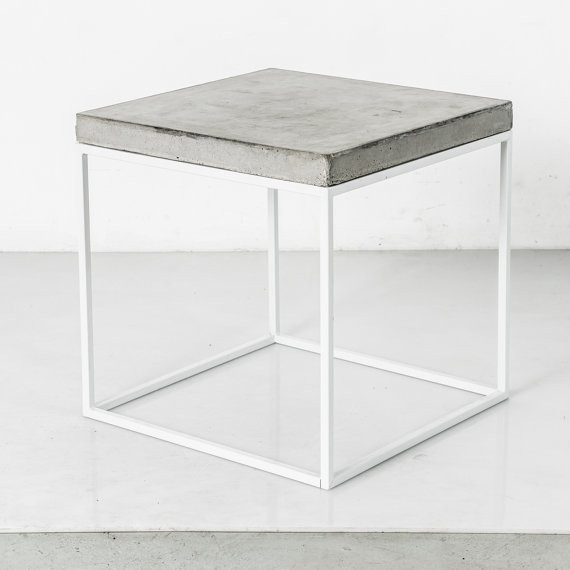 Concrete & Steel End Table by Crafts Manhattan