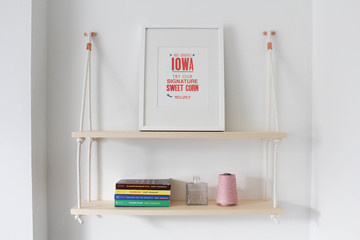 Make Your Walls More Chic With This DIY Rope Shelf