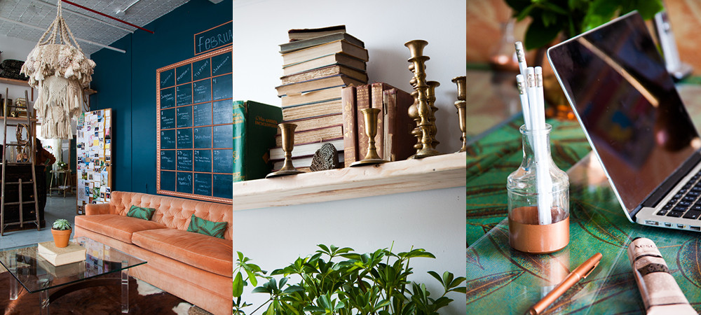 """""""We&squot;ve been digging coppery vibes lately,"""" says Patina founder Corrin Arasa."""