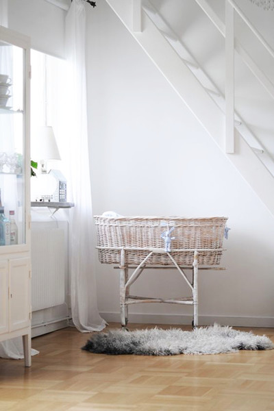 Bassinet Fits Perfectly Under Stairs