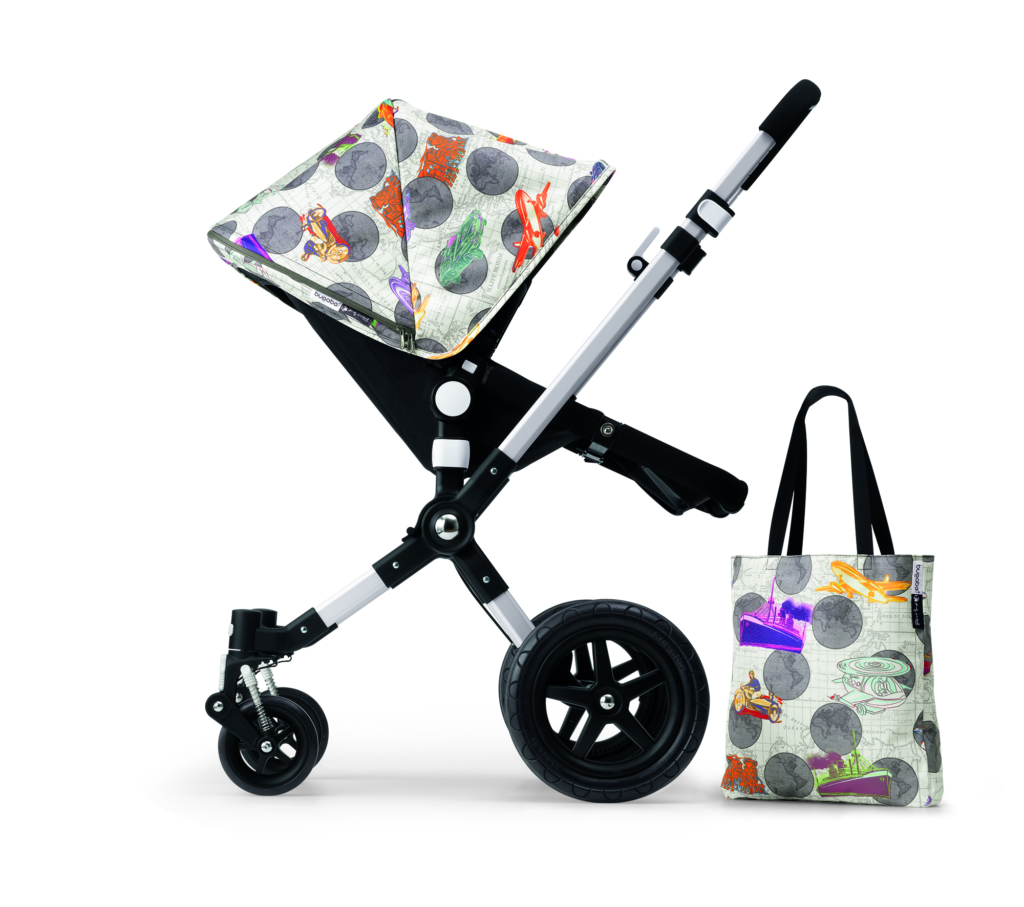 The Andy Warhol + Bugaboo Globetrotter Collection, designed by Flavor Paper.