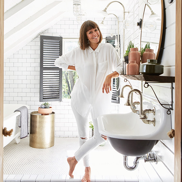 Leanne Ford Used Only Target Items To Create This Bathroom Oasis