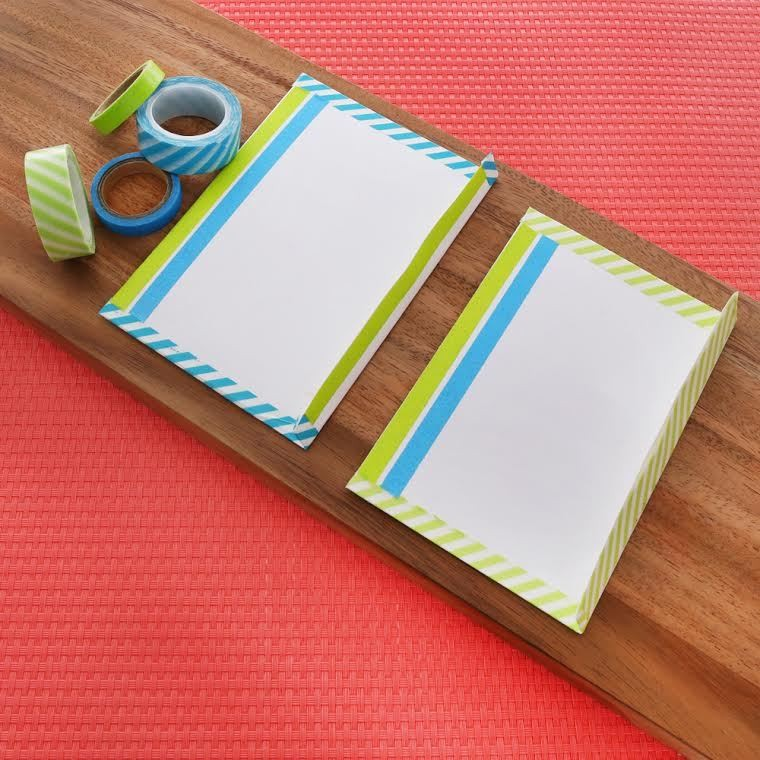 D I Y Washi Tape Stationary Do It Yourself Projects Lonny