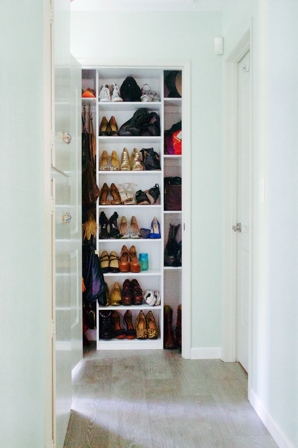 The finished product: a well-organized closet to envy.