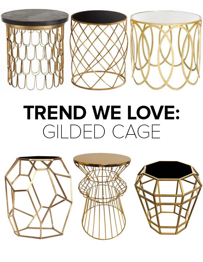 Trend We Love Gold Wireframe Side Tables Trends We Love