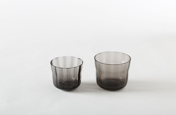 Double Smoke Wave Crystal Whiskey Glasses by Hering Berlin
