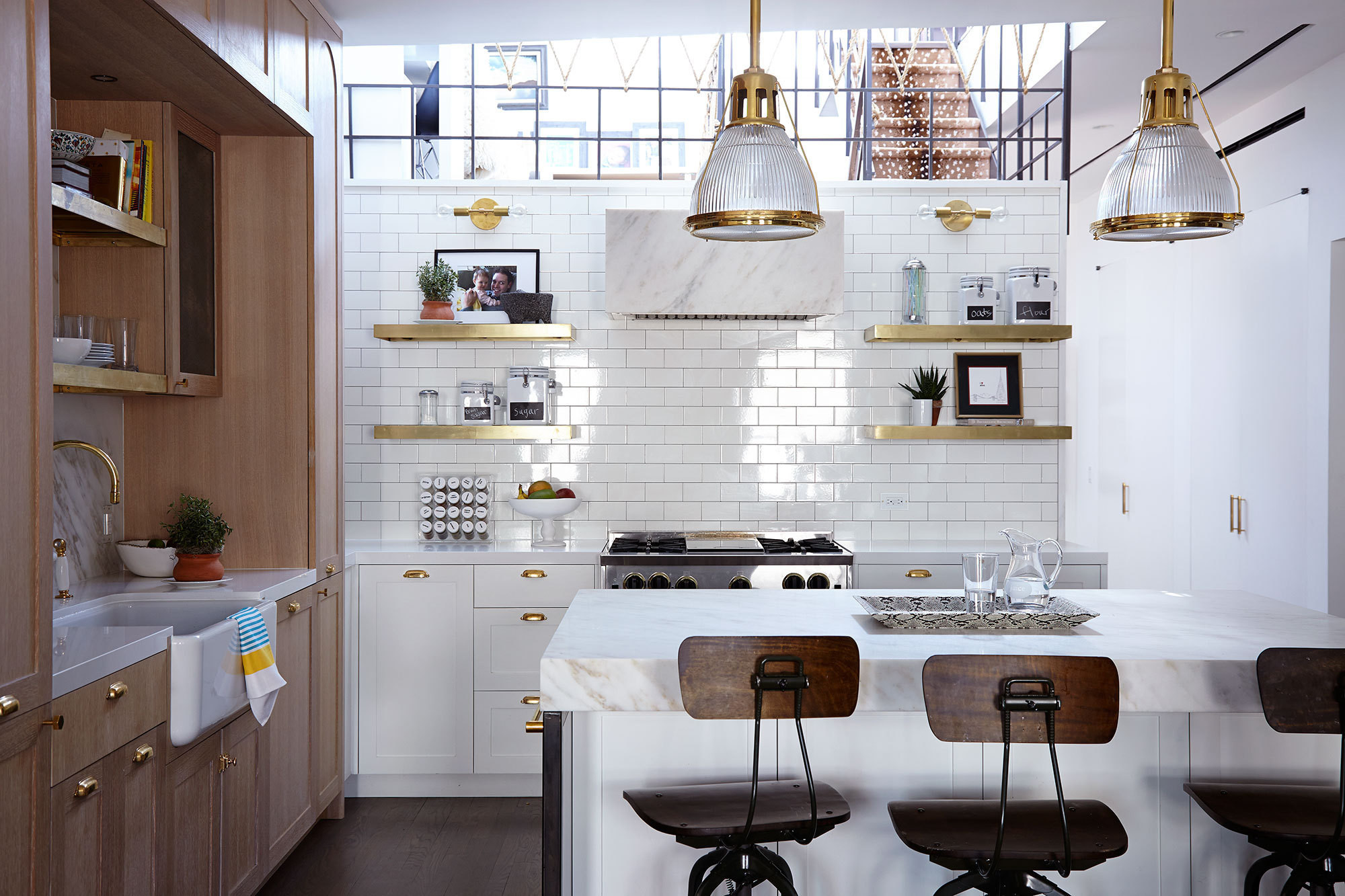 surprising Kitchen Walls Pictures Part - 3: The sunken kitchen of a Tribeca home by Jenny Vorhoff.