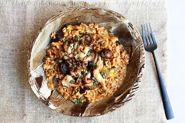 Warm Up with this Hearty Farro-Mushroom Risotto Recipe