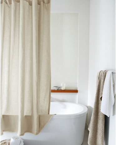 Washed Linen Shower Curtain By Eileen Fisher X Garnett Hill