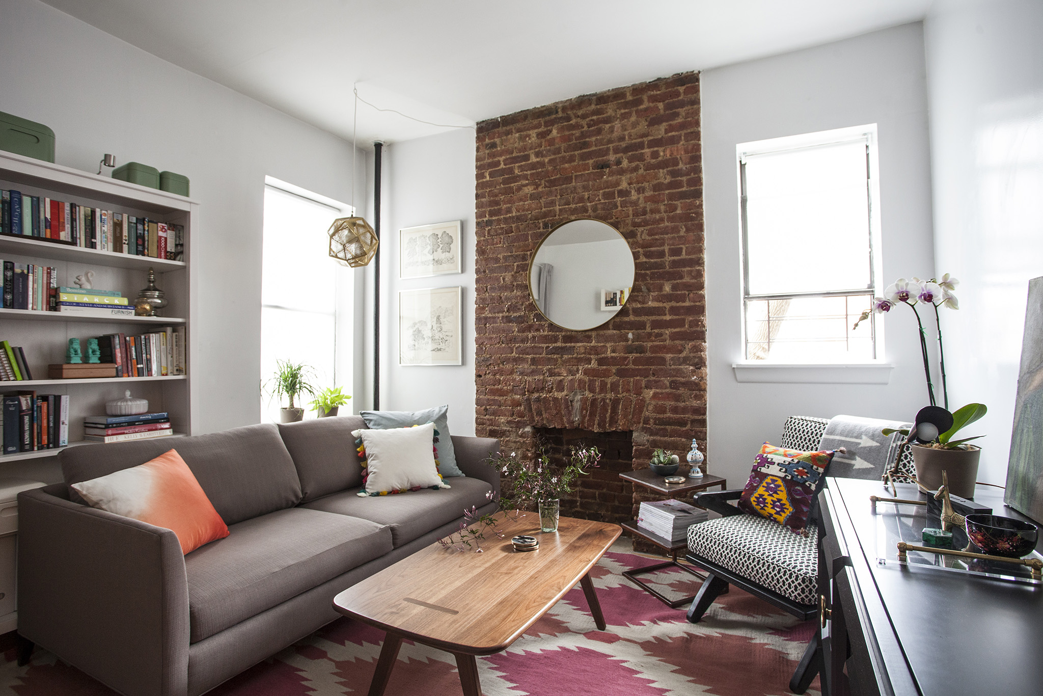 A Brooklyn Makers EverEvolving Small Apartment Home Tours - Living room furniture brooklyn