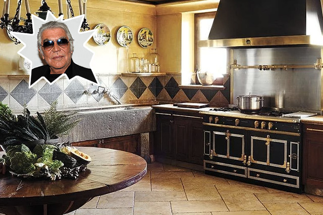 Roberto cavalli the best celebrity kitchens ever lonny for Nicest kitchen ever