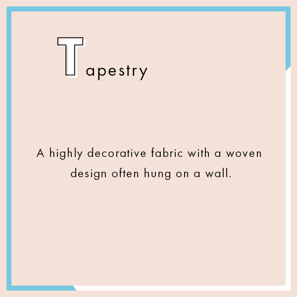Tapestry The Ultimate Interior Design Dictionary Lonny