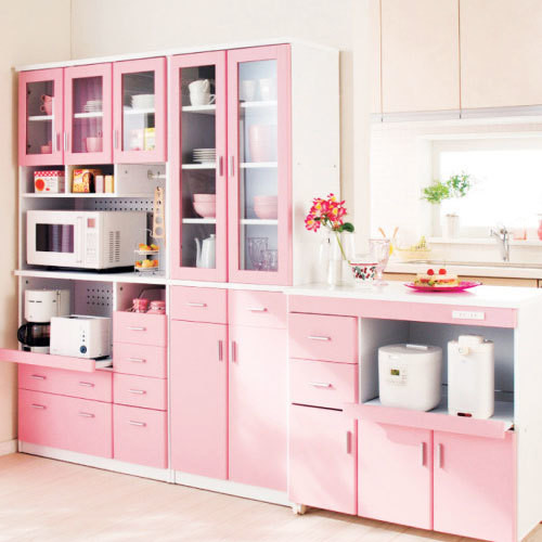 Pretty In Pink - 15 Times Painted Kitchen Cabinets Changed ... on pink kitchens from the 1950, pink kitchen table, pink hello kitty kitchen, pink kitchen counter, pink kitchen appliances, pink kitchen stuff, pink kitchen toys, pink green kitchen, pink kitchen backsplash, pink cottage kitchens, pink living room, pink kitchen accents, pink retro kitchen, pink play kitchen, pink kitchen island, pink wallpaper, pink kitchen sinks, pink kitchen floor, pink and gray kitchen, pink kitchen faucets,