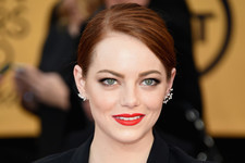 Get Emma Stone's Exact Bold Red Lip from the 2015 SAG Awards