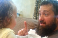 Watch This Little Girl Freak Out When Her Dad Shaves His Beard