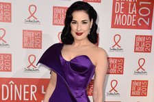 Look of the Day: Dita Von Teese's Corset Gown