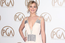 Look of the Day: Jennifer Lawrence's Plunging Gown