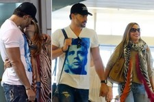 Sofia Vergara and Joe Manganiello Cuddle at the Airport