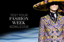 Test Your Fashion Week Knowledge