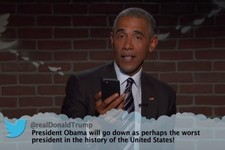 President Obama Reads Mean Tweets, Burns Donald Trump on 'Kimmel'